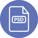 photoshop format, psd, psd document, psd file, psd format, psd vector icon