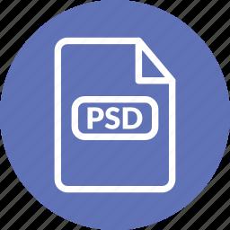 photoshop format, psd, psd document, psd file, psd format, psd vector icon