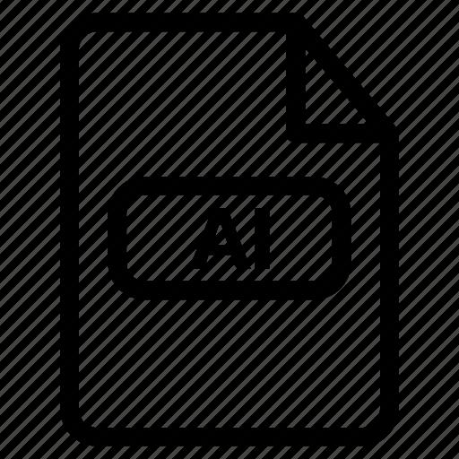 adobe illustrator, ai document, ai file, ai format, ai vector icon