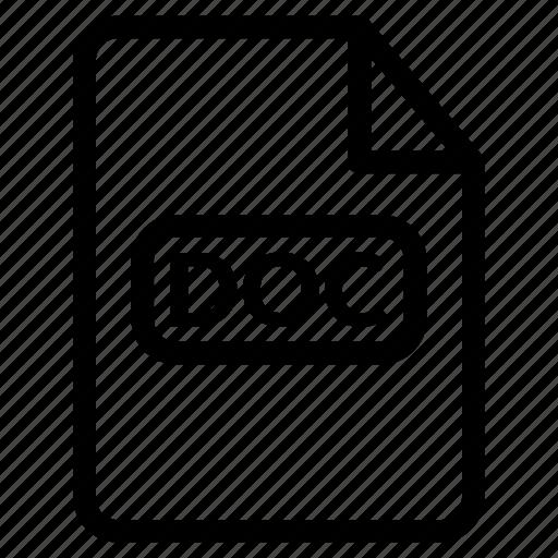 doc, doc document, doc file, doc format, microsoft word icon