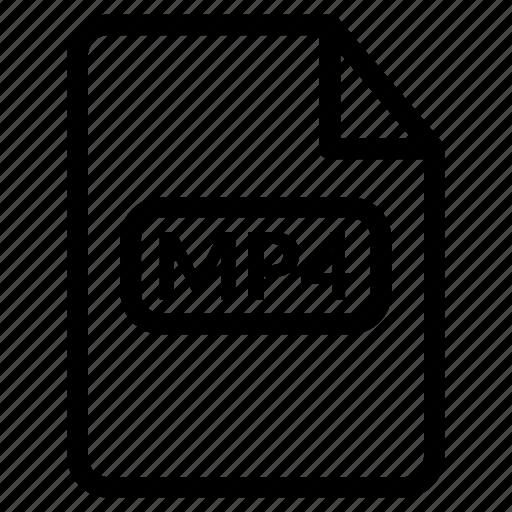 mp4, mp4 document, mp4 file, mp4 format, mp4 video icon
