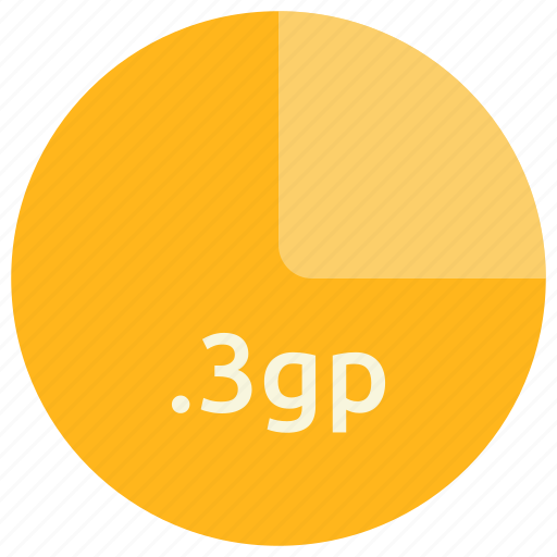 3gp, extension, file, format, mobile icon