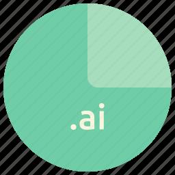 adobe, ai, ai file, extension, file, format, illustrator icon