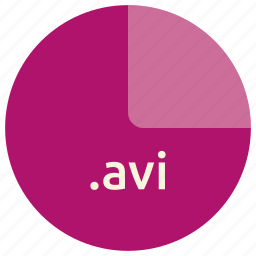 avi, extension, file, format, multimedia, video icon