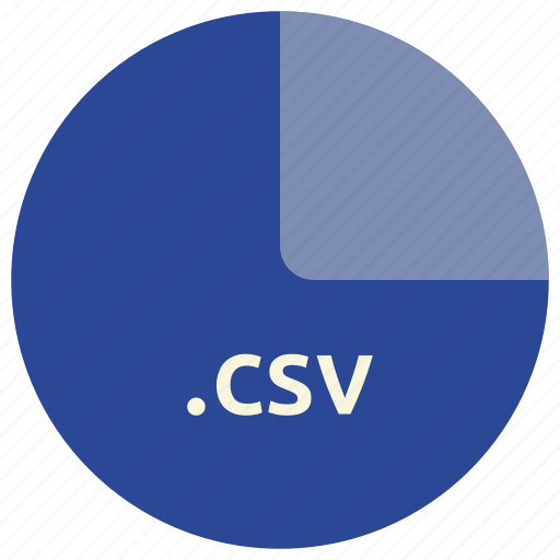csv, extension, file, format, open, standard icon