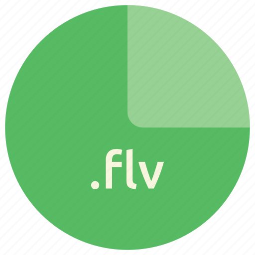 extension, file, flash, flv, format, multimedia icon