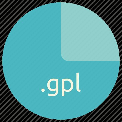 color, extension, file, format, gpl, inkscape, palette icon