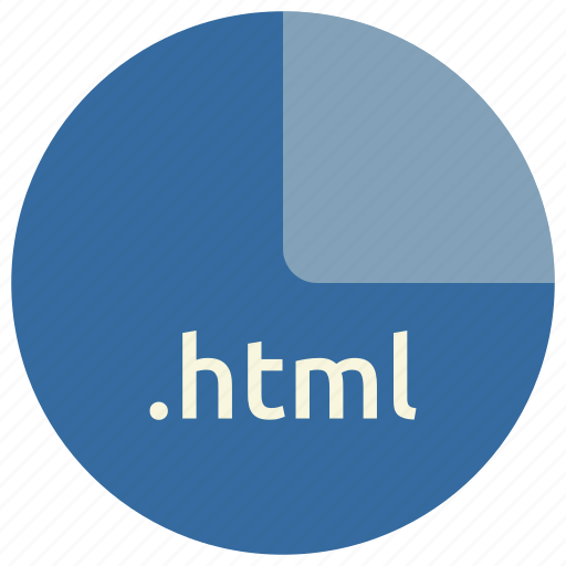 extension, file, format, html, markup, web icon