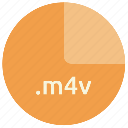 extension, file, format, m4v, multimedia, video icon