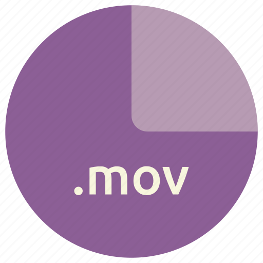 extension, file, format, mov, multimedia icon