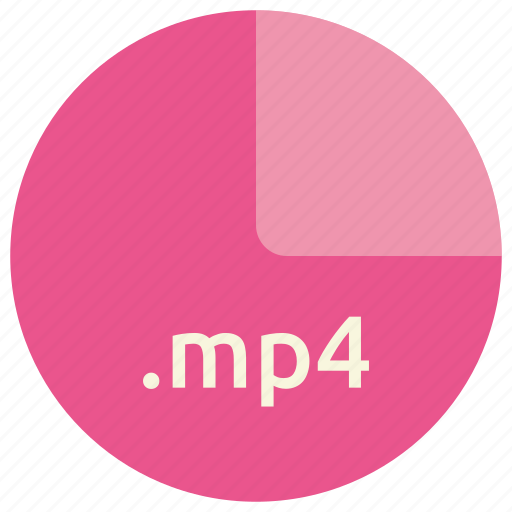 extension, file, format, mp4, multimedia, video icon