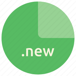extension, file, format, new icon
