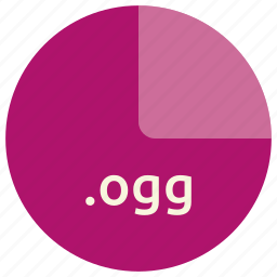 audio, extension, file, format, multimedia, ogg icon