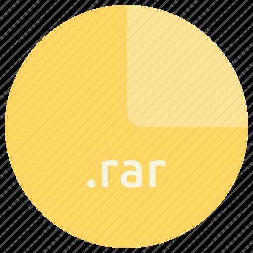 compression, data, extension, file, format, rar icon
