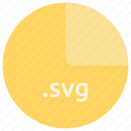 extension, file, format, open standard, sacalable, svg, vector graphics icon