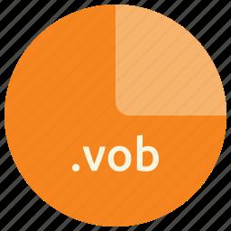 audio, extension, file, format, vob icon