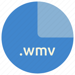 extension, file, format, multimedia, video, wmv icon