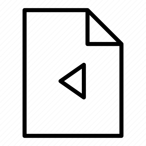 back, document, file, page, pages, previous, sheet icon