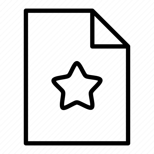 document, favourite, file, page, pages, sheet icon