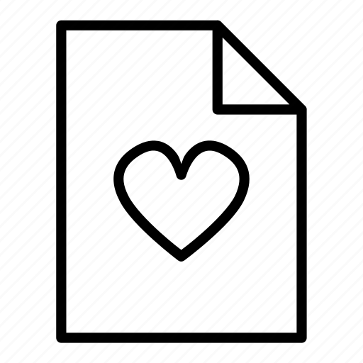 document, file, heart, page, pages, sheet icon