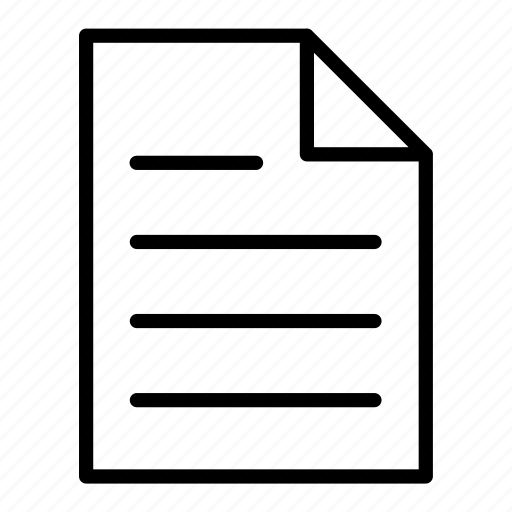 document, file, page, pages, sheet, writen icon