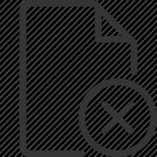 cancel, cross, document, file, no icon