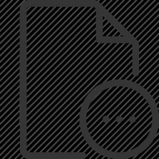 document, ellipsis, file, loading icon