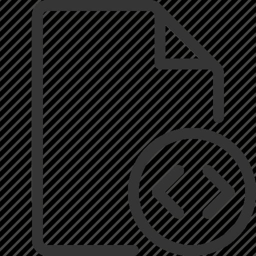 code, document, file, inequality icon
