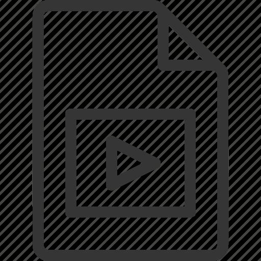 document, file, movie, video icon