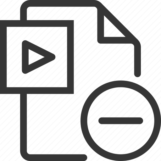 Delete, document, file, minus, movie, video icon - Download on Iconfinder