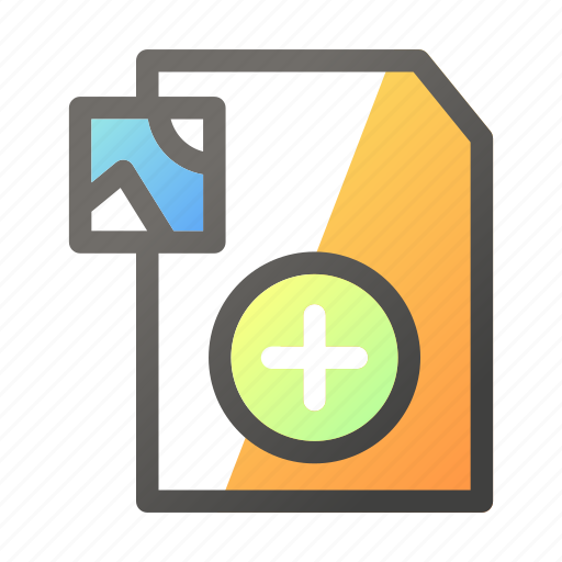 Add, data, document, file management, image icon - Download on Iconfinder