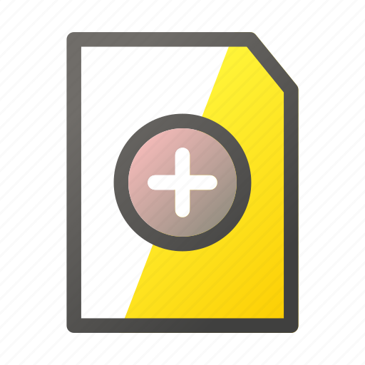 Add, data, document, file, file management icon - Download on Iconfinder