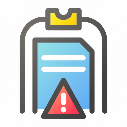 Alert, clipboard, data, document, file management icon - Download on Iconfinder
