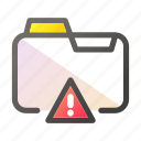 alert, data, document, file management, folder