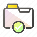approve, data, document, file management, folder icon