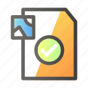 approve, data, document, file management, image icon