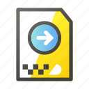 archive, data, document, file management, move, right icon