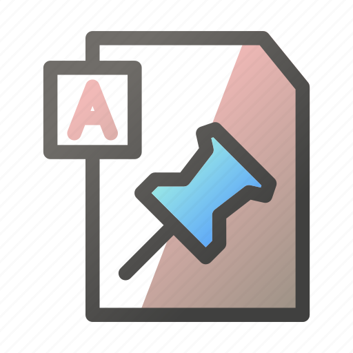 Attach, data, document, file management, text icon - Download on Iconfinder