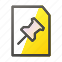 attach, data, document, file, file management icon