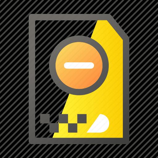 archive, cancel, data, document, file management icon
