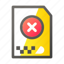 archive, cancel, data, document, file management icon