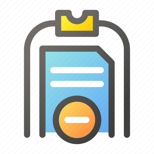 Cancel, clipboard, data, document, file management icon - Download on Iconfinder