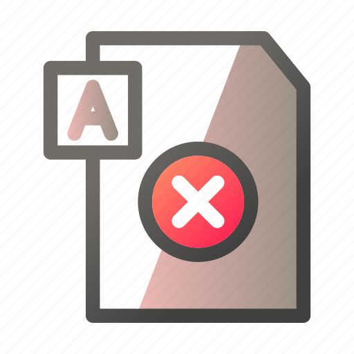 cancel, data, document, file management, text icon