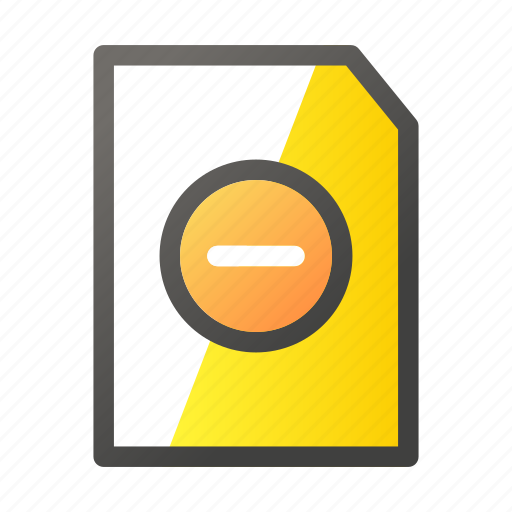 Cancel, data, document, file, file management icon - Download on Iconfinder
