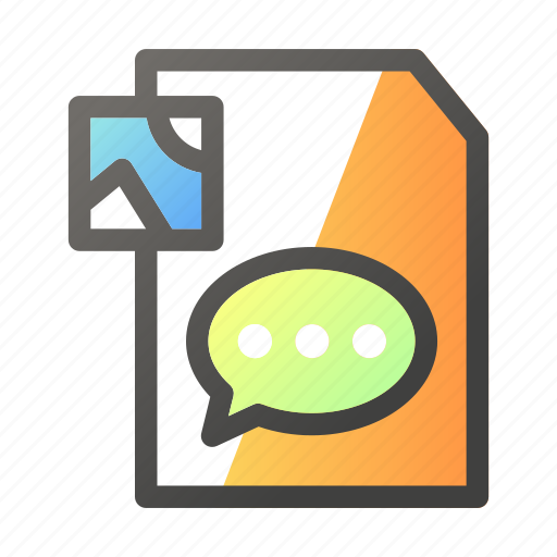 chat, data, document, file management, image icon