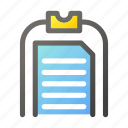 clipboard, data, document, file management icon
