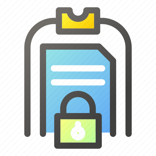 Clipboard, data, document, file management, protection icon - Download on Iconfinder