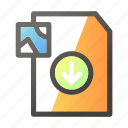 data, document, download, file management, image icon