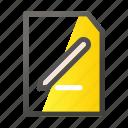 data, document, edit, file, file management icon