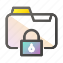 data, document, file management, folder, protection icon